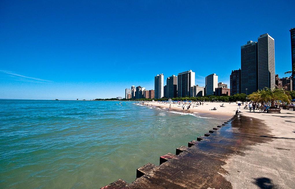 Пляж Оак-Стрит в Чикаго, США, фото 4