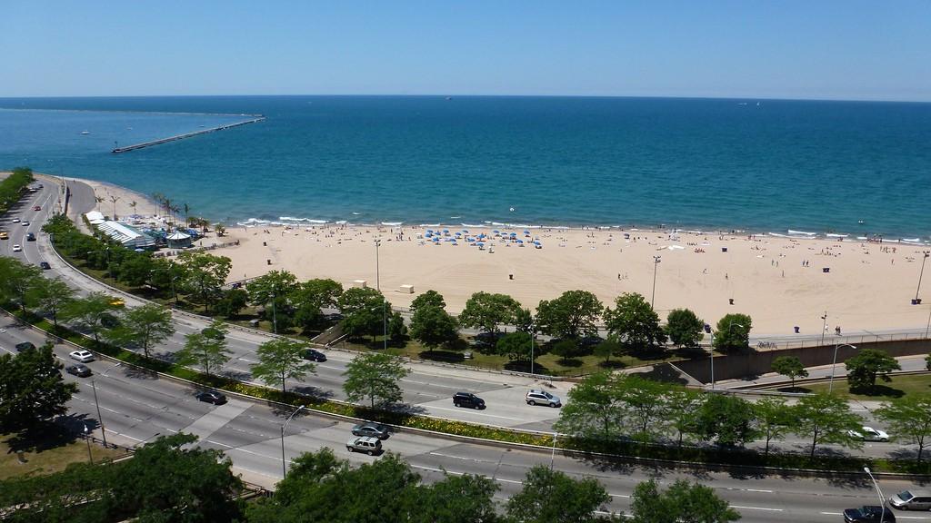 Пляж Оак-Стрит в Чикаго, США, фото 5