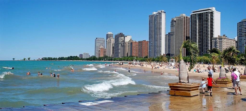 Пляж Оак-Стрит в Чикаго, США, фото 8