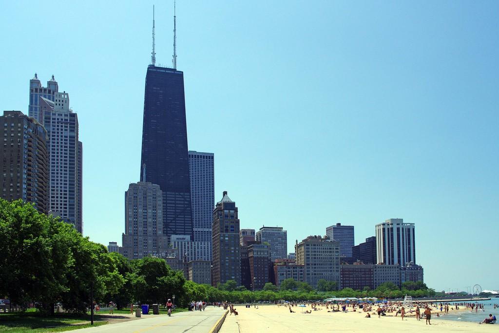 Пляж Оак-Стрит в Чикаго, США, фото 9